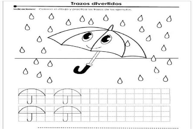 Divertidos Ejercicios De trazos Calca El Dibujo