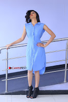 Telugu Actress Mounika UHD Stills in Blue Short Dress at Tik Tak Telugu Movie Audio Launch .COM 0045.JPG