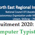 NERIE, Shillong Recruitment 2020, JPF, Computer Typist, Coordinator