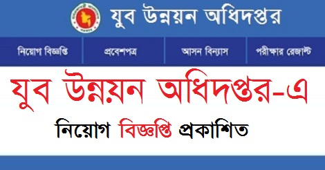 DYD Job Circular, Admit Card, Seat Plan and Exam Result