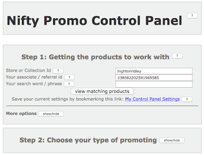 Nifty Promo Control Panel