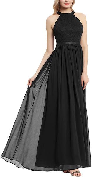 Best Quality Black Chiffon Bridesmaid Dresses
