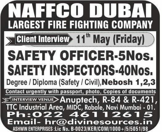 Largest Fire fighting company NAFFCO Dubai JObs - Gulf Jobs