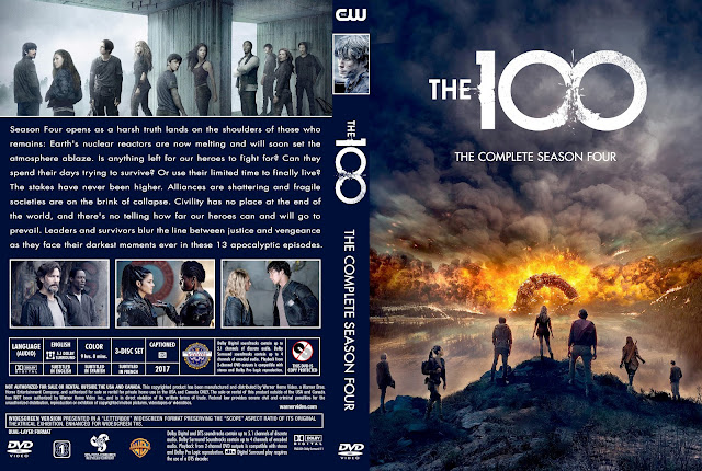 The 100 Season 4 DVD Cover