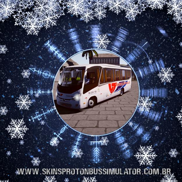 Skin Proton Bus Simulator - New Senior MB LO-916 BT5 Viação Teresópolis