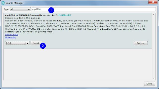 Instalare suport ESP8266 în Arduino IDE