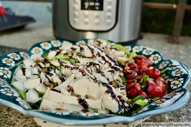 image of Instant Pot Chicken Caprese Salad
