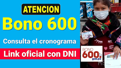LINK oficial Verifica si serás beneficiario del #Bono600 CRONOGRAMA de PAGO
