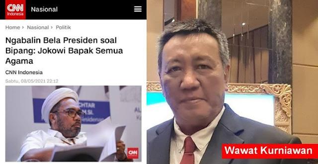 Wawat Kurniawan semprot Ngabalin: Jokowi Bapak Semua Agama? Agama Yang Mana? Semua Agama Samawi Haramkan Babi