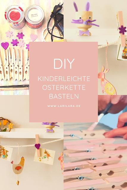 Mit Kindern eine Postkartenkette zu Ostern basteln