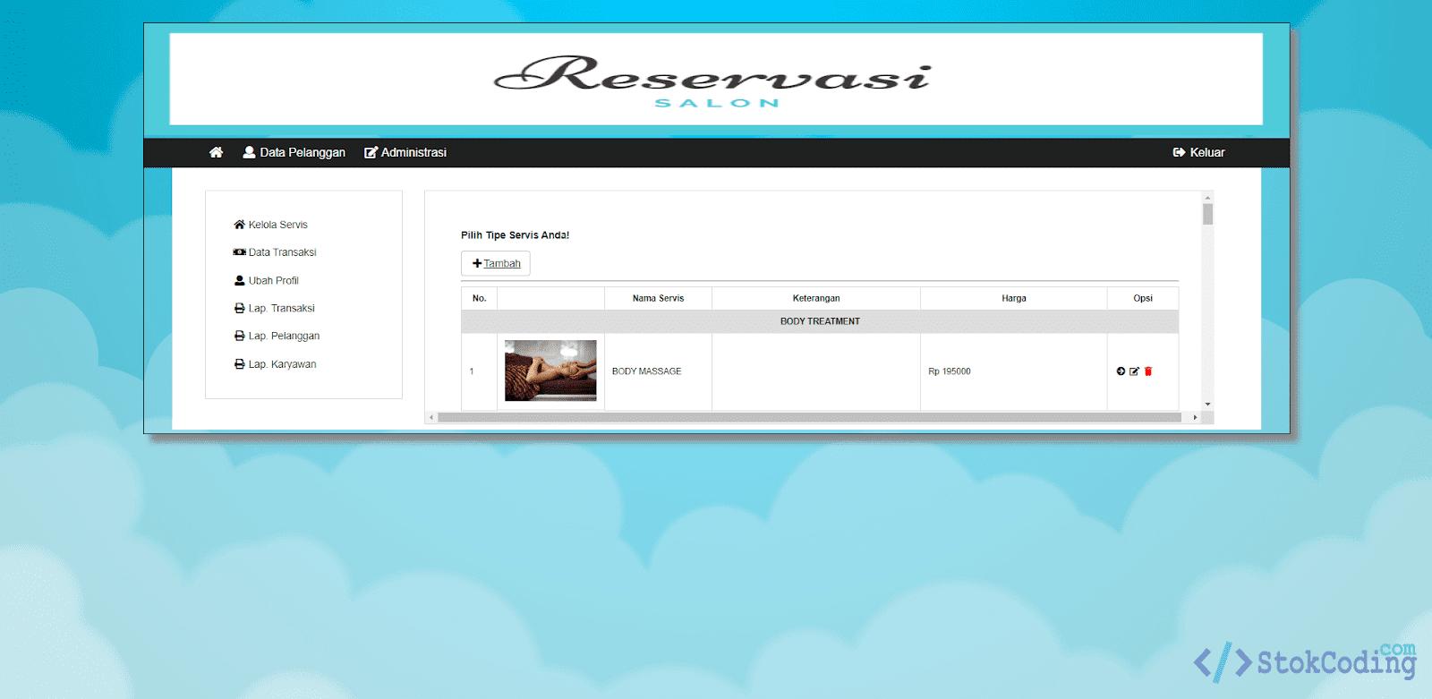 Sistem Aplikasi Booking Salon Online (PHP)