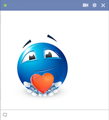 Here's My Heart Facebook Smiley