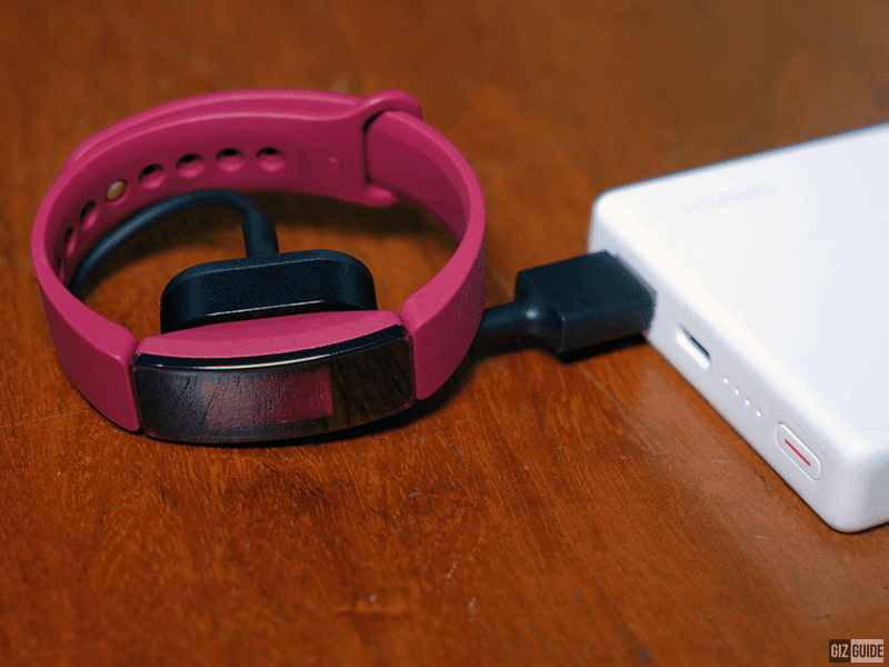Fitbit Inspire with the charging cradle