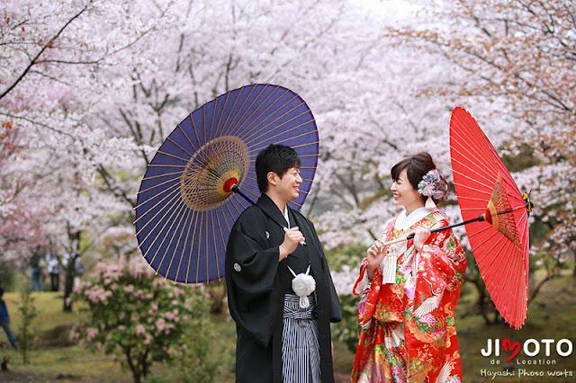 京都前撮りロケーション撮影|桜