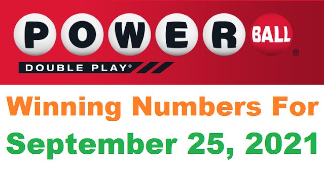 PowerBall Double Play Winning Numbers for September 25, 2021