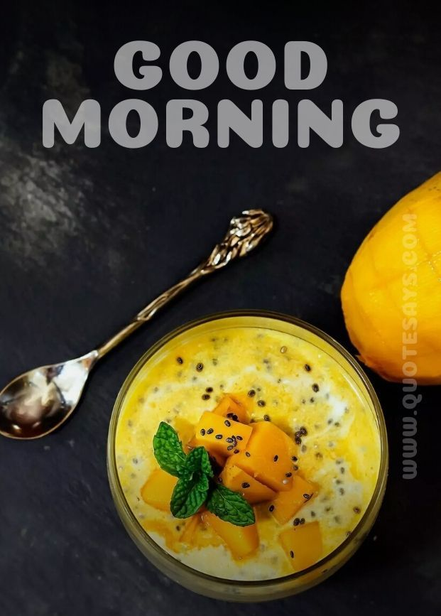 Beautiful Good Morning of Mango Shake