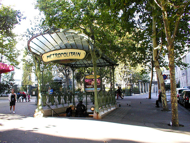 Abbesses Metro station entrance, Paris, France. Photo by Loire Valley Time Travel.