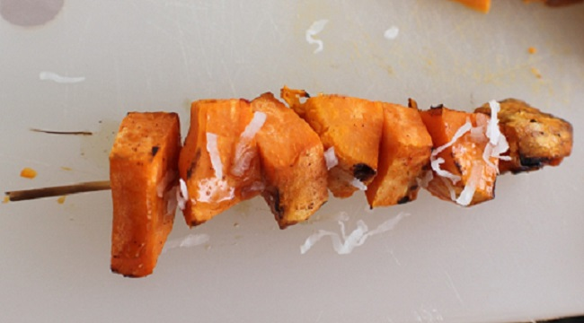 how to make sweet potato grilled kabobs