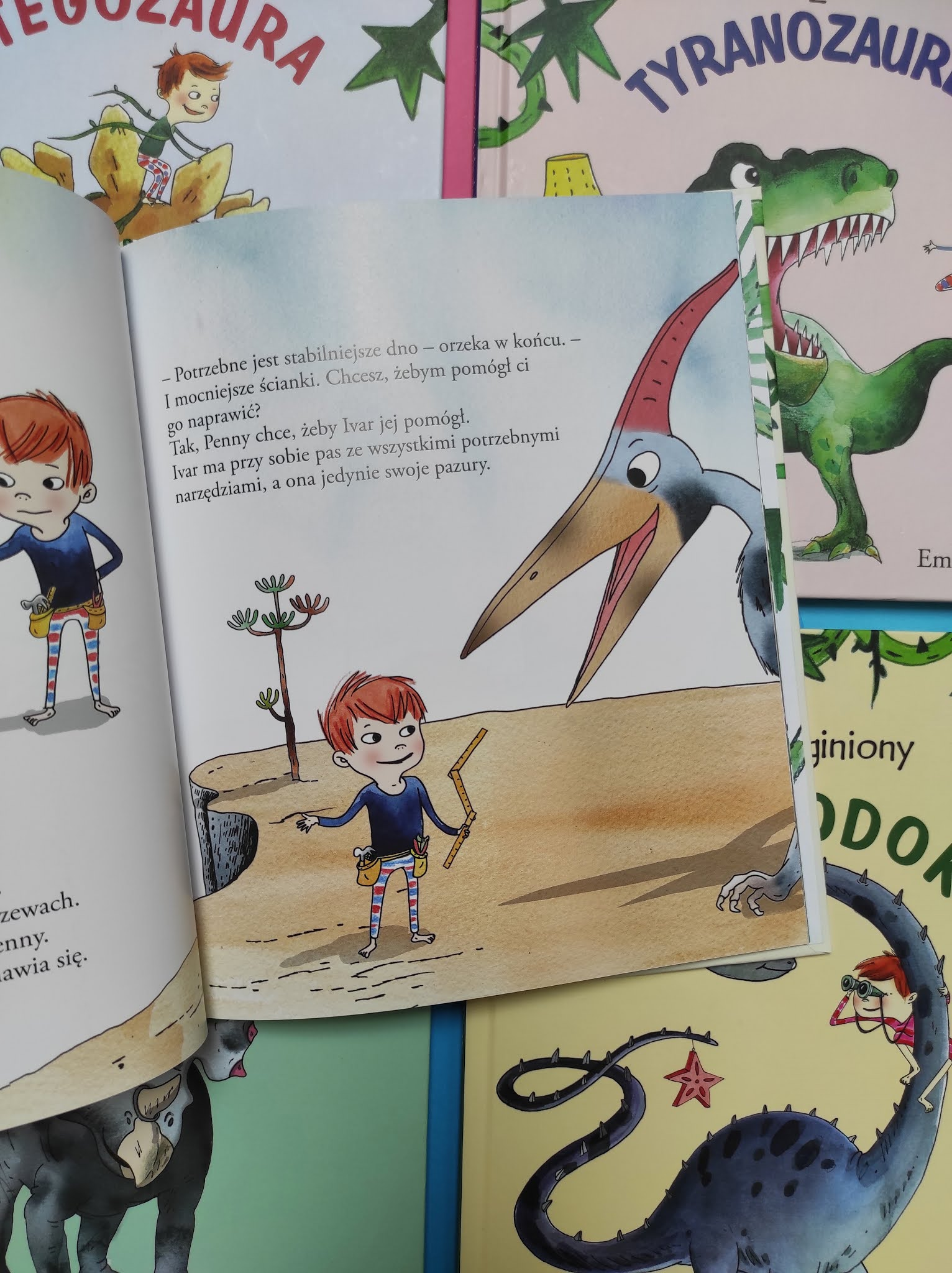 """Ivar buduje dom dla PTERANODONA"" Lisa Bjärbo, Emma Göthner"