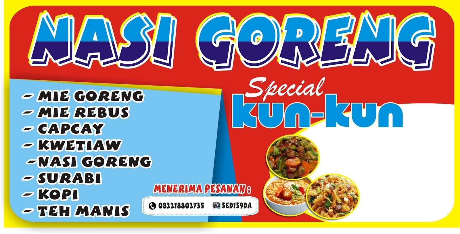 Spanduk Nasi Kuning Cdr - desain banner kekinian