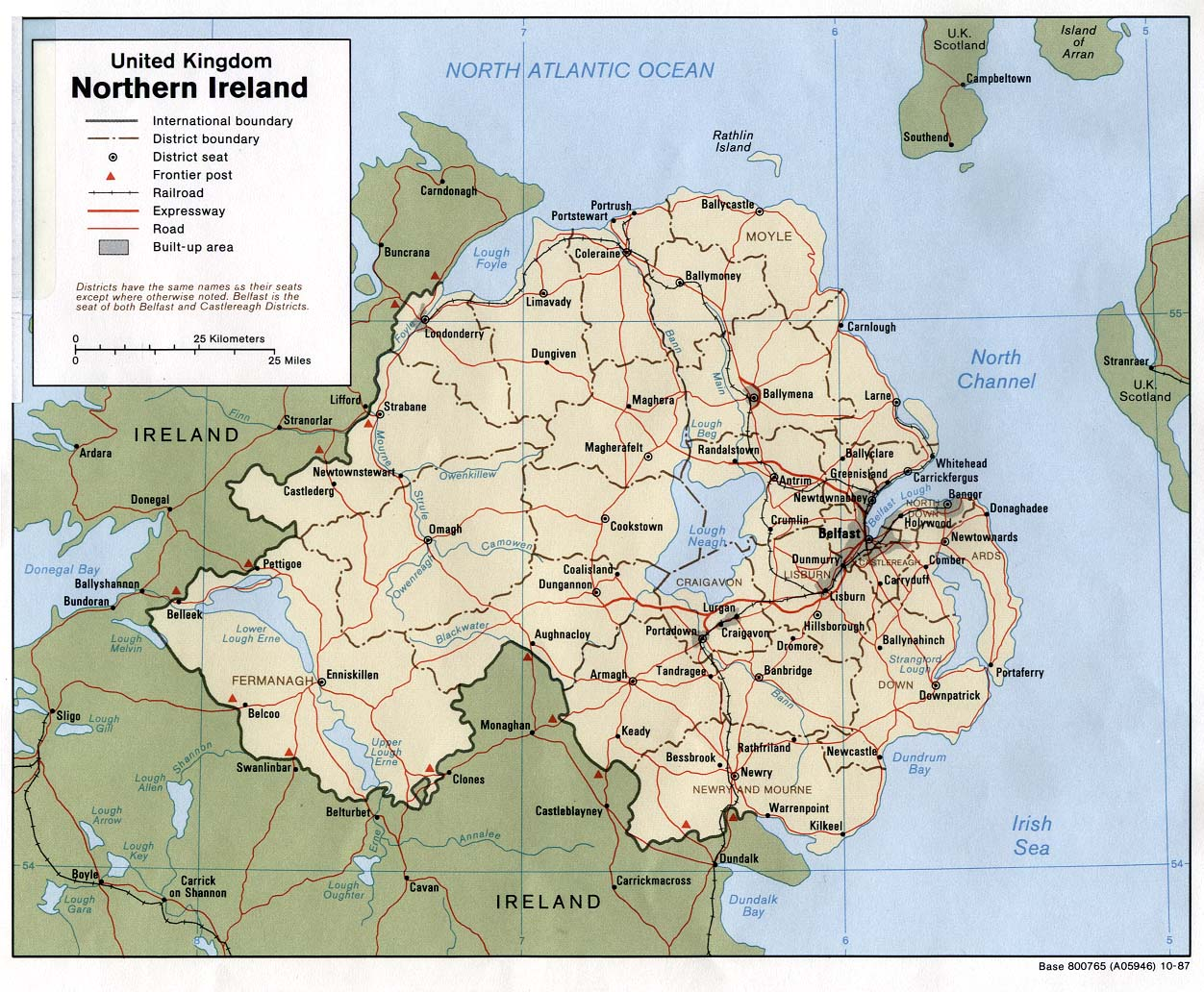 Irlanda do Norte | Mapas Geográficos da Irlanda do Norte