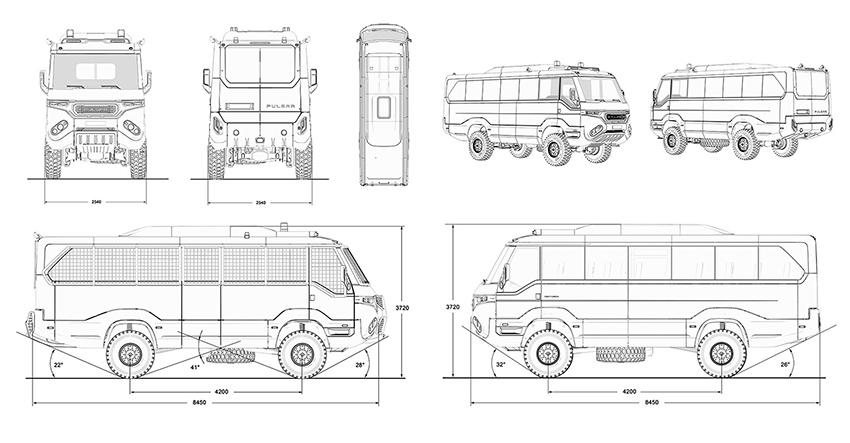повноприводний медичний евакуаційний автобус 4х4 Torsus Praetorian
