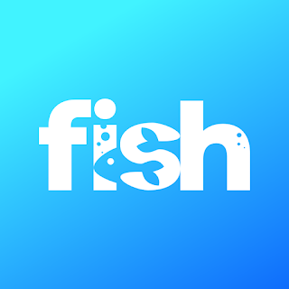 fish logo text
