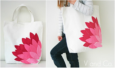 Quilt inspiration free pattern day tote bags hand appliqued petal bag tutorial by vanessa christenson at v and co publicscrutiny Image collections