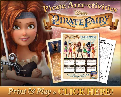 jocuri si planse de desenat cu tema Clopoţica şi Zâna Pirat