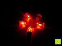 rot: Yorbay® LED Weihnachtskerzen RGB/Warmweiß mit Fernbedienung mit Timerfunktion 10-100stk (20)