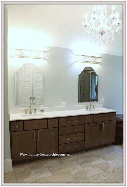 Master Bathroom Makeover-French Farmhouse-French Country-Shabby Chic-Sherwin Williams-Sea Salt-From My Front Porch To Yours