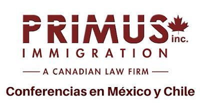 Primus Immigration ofrecerá conferencias sobre migración a Canadá en México y Chile