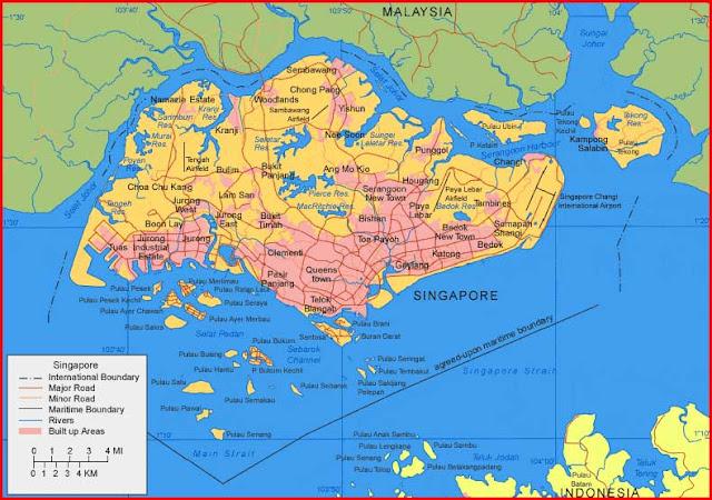 Gambar Peta Singapura