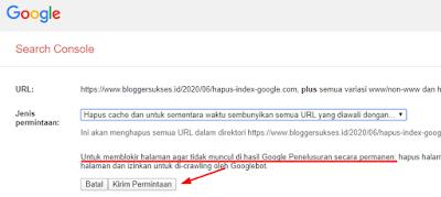 Cara menghapus URL dari index google
