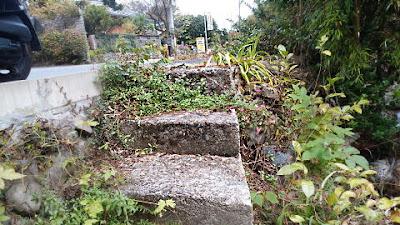道端の階段