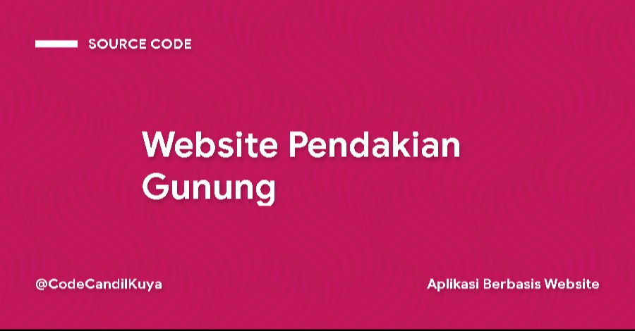 Source Code Website Pendakian Gunung