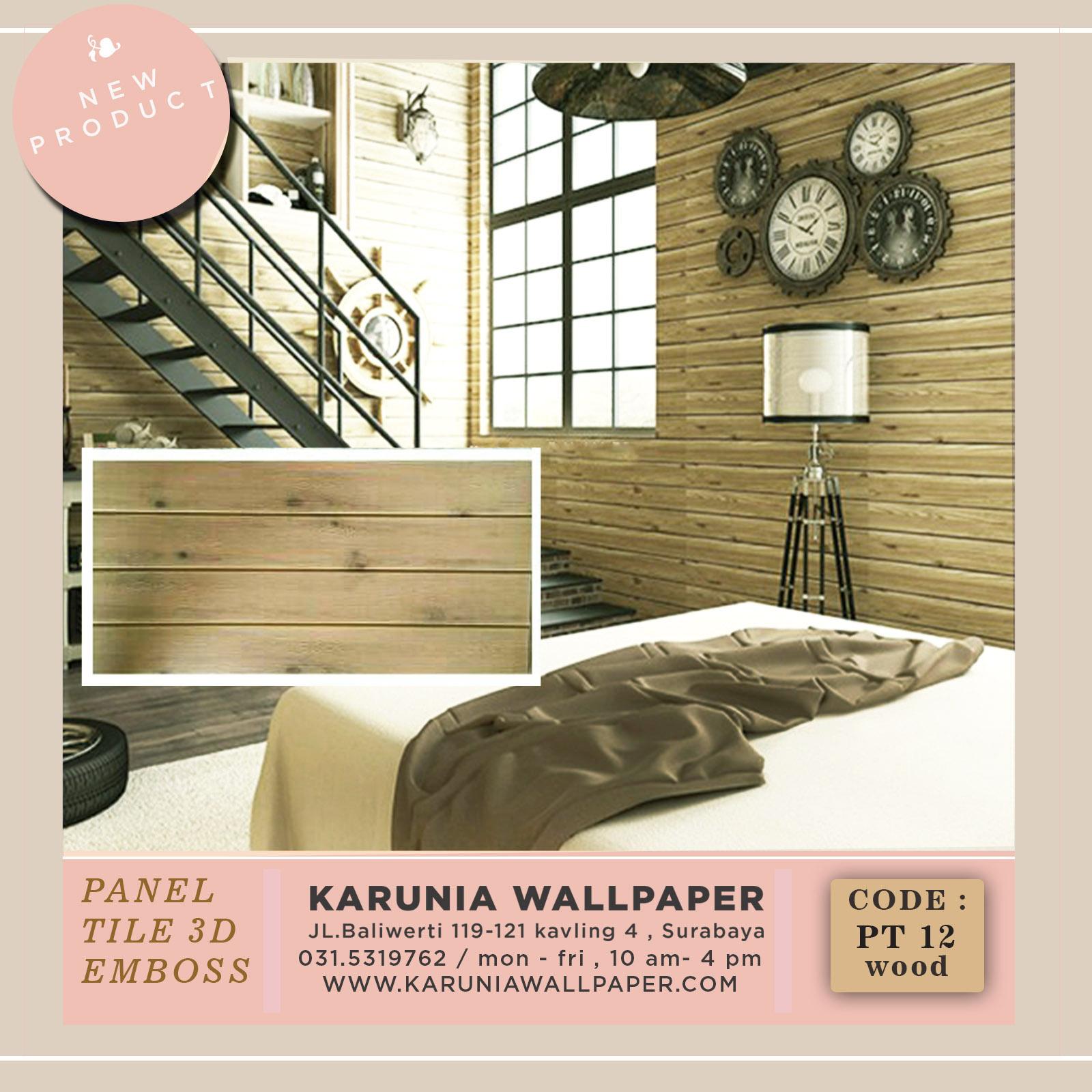 jual wallpaper kayu timbul