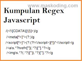 Kummpulan Reqex Javascript