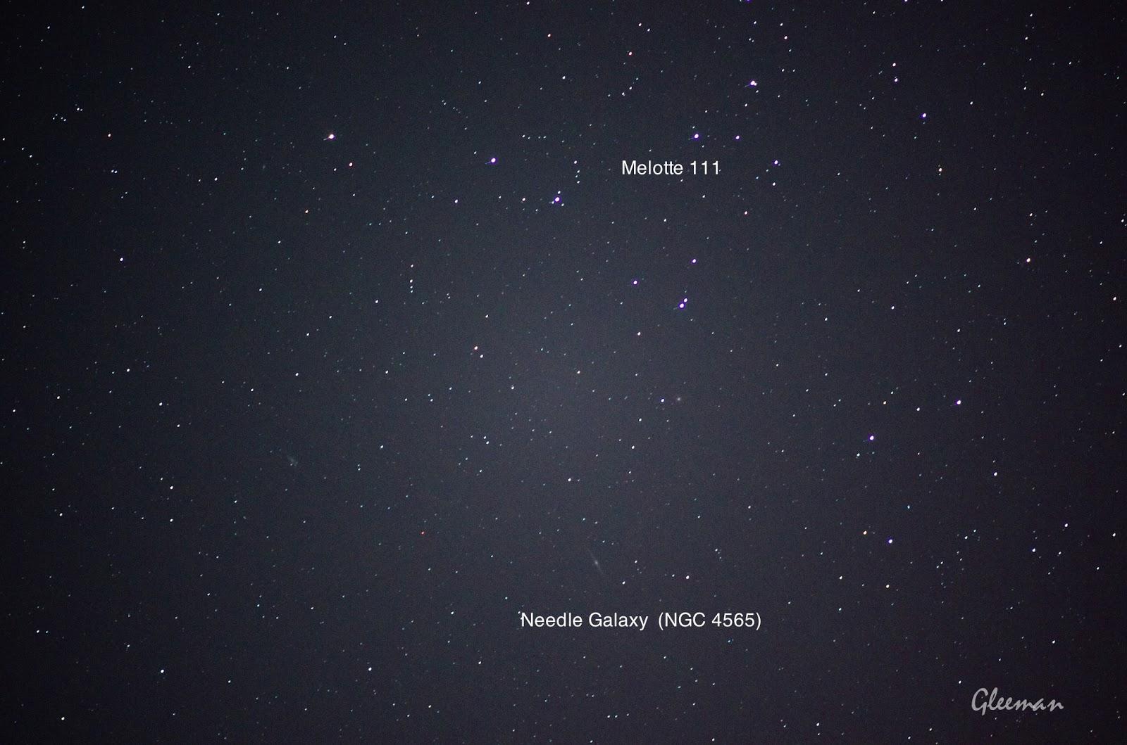 Melotte 111星團,  Needle Galaxy (NGC 4565) 針之星系/ Pentax  K5 + Pentax O-GPS1 + DA*200