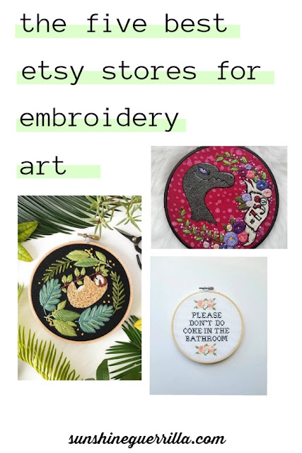 The Five Best Etsy Stores for Embroidery Art