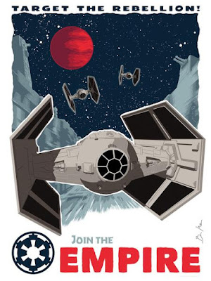 "Star Wars ""Target the Rebellion"" Screen Print by Brian Miller (Oktopolis) x Dark Ink Art"