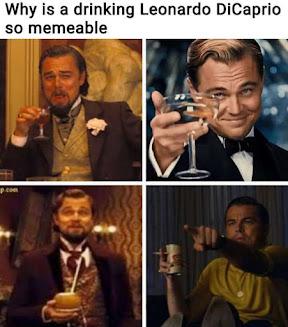 Leonardo DiCaprio laughing meme