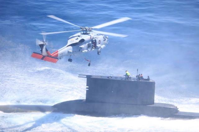 Submarino peruano durante operación DESI en la costa este de EE. UU.