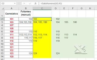 VBA: Saltos en listados no correlativos