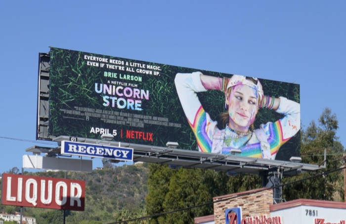 Unicorn Store Netflix billboard