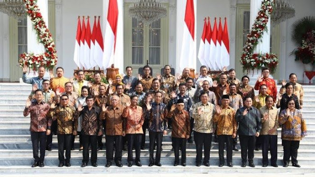 Sah, Daftar Mentri Presiden Jokowi 2019 - 2024 Beserta Profilnya