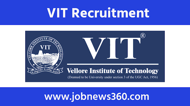 Vellore Institute of Technology Recruitment 2021 for Junior Research Fellow