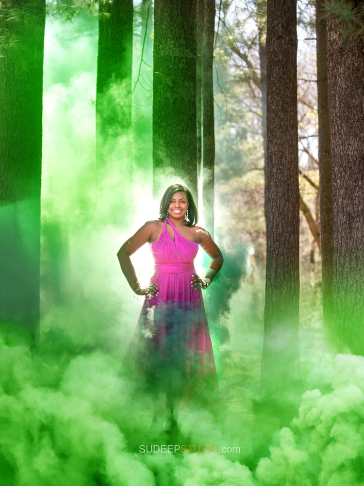 Smoke Bomb Photography Portraits - Ann Arbor Photographer Sudeep Studio.com