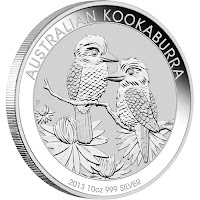 Srebrnik Kookaburra 1 oz Perth Mint 2013