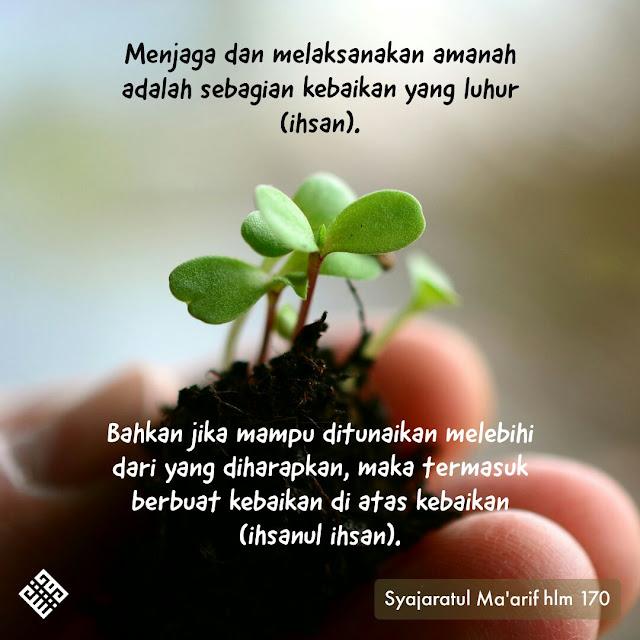 Quote menjaga amanah